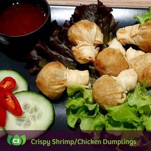 C3 Tung Thong Crispy Shrimp/Chicken Dumplings