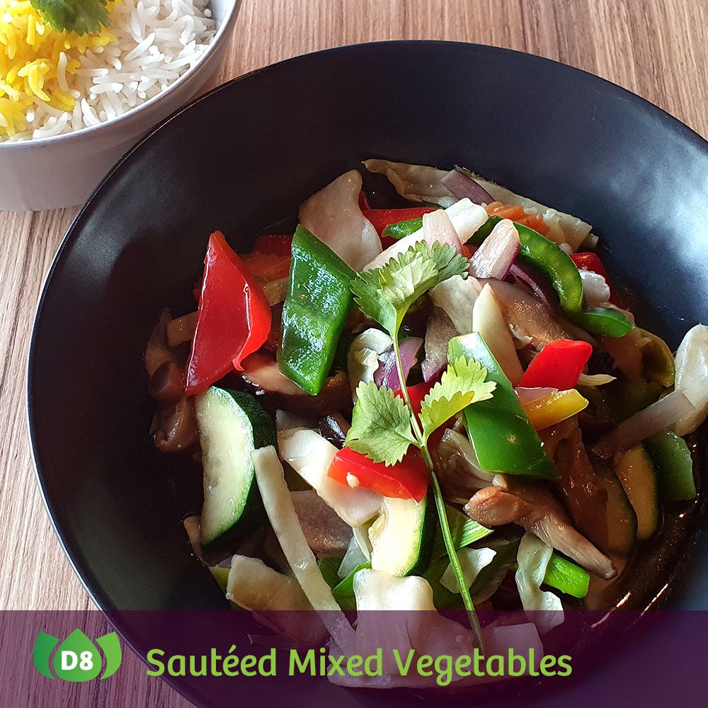 D8 Pad Pak Ruam Sautéed Mixed Vegetables