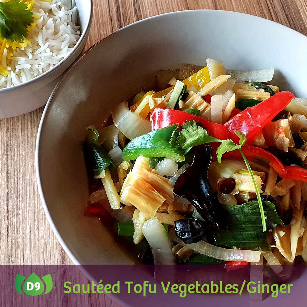 D9 Pad King Djeh Sautéed Tofu Vegetables/Ginger